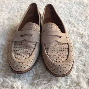 FRANCO SARTO tan suede leather loafers Sz6.5
